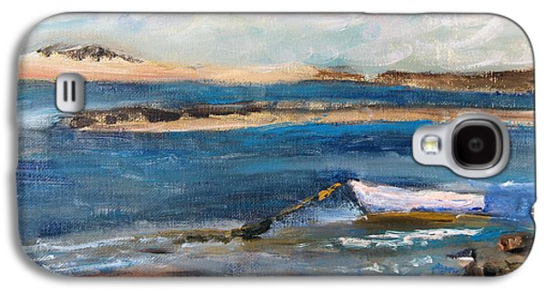 Chatham Paintings Galaxy S4 Cases - Chatham Boat in the Cove Galaxy S4 Case by Michael Helfen
