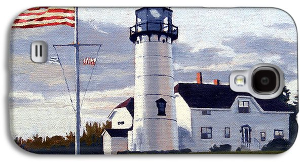 Chatham Paintings Galaxy S4 Cases - Chatham Lighthouse Cape Cod Massachusetts Galaxy S4 Case by Christine Hopkins