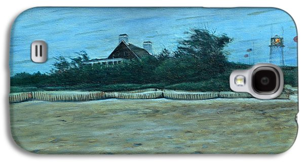 Chatham Paintings Galaxy S4 Cases - Chatham Lighthouse Galaxy S4 Case by Erik Schutzman