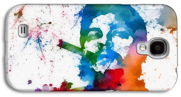 Author Mixed Media Galaxy S4 Cases - Che Guevara Paint Splatter Galaxy S4 Case by Dan Sproul