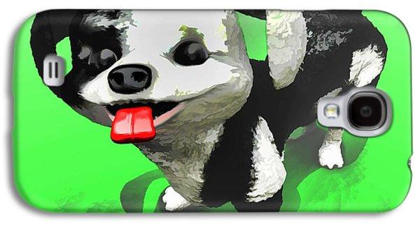 Puppy Digital Art Galaxy S4 Cases - Checkmate Galaxy S4 Case by Dave Luebbert