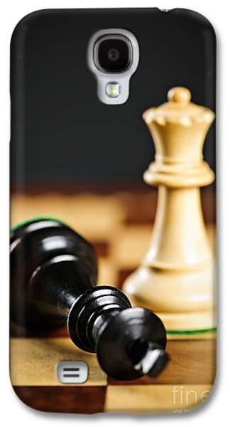 Pieces Galaxy S4 Cases - Checkmate in chess Galaxy S4 Case by Elena Elisseeva