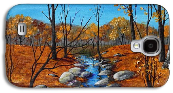 Autumn Landscape Drawings Galaxy S4 Cases - Cheerful Fall Galaxy S4 Case by Anastasiya Malakhova