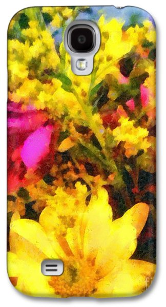 Pinks And Purple Petals Photographs Galaxy S4 Cases - Cheers Galaxy S4 Case by Janine Riley