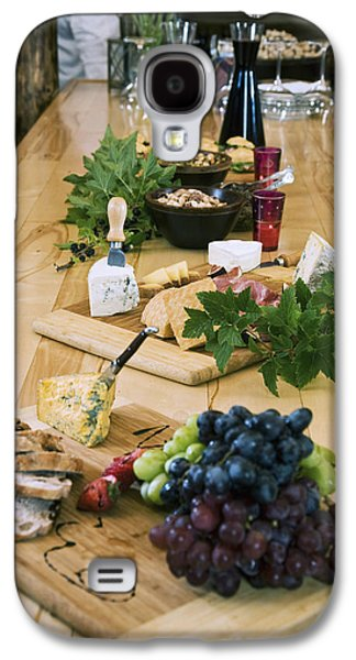 Wine Service Galaxy S4 Cases - Cheese, Bread And Fruit Hors Doervres Galaxy S4 Case by Jeff Schultz