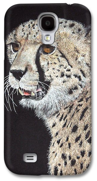 Cheetah Drawings Galaxy S4 Cases - Cheetah Glory Galaxy S4 Case by John Hebb