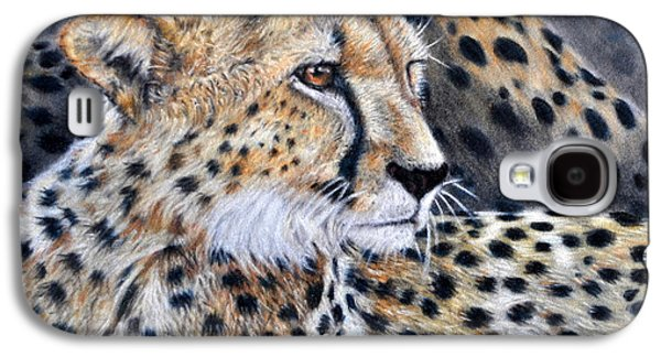 Preditor Galaxy S4 Cases - Cheetah Galaxy S4 Case by Louise Charles-Saarikoski