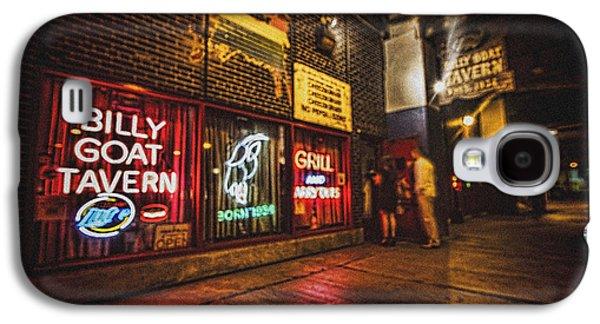 Goat Digital Art Galaxy S4 Cases - Cheezborger Cheezborger at Billy Goat Tavern Galaxy S4 Case by Sven Brogren