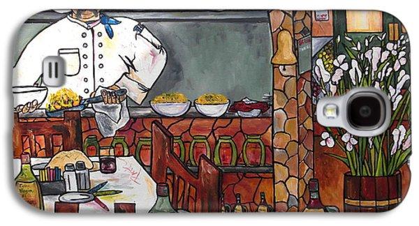 Gladiolas Paintings Galaxy S4 Cases - Chef on line Galaxy S4 Case by Patti Schermerhorn
