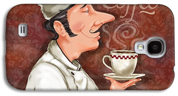 Dine Galaxy S4 Cases - Chef Smell the Coffee Galaxy S4 Case by Shari Warren