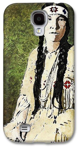 Torn Galaxy S4 Cases - Cherokee Woman Galaxy S4 Case by Lianne Schneider