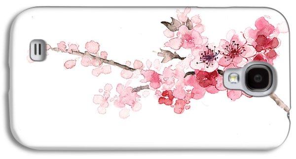 Cherry Blossom Art Print Watercolor Painting Galaxy S4 Case by Joanna Szmerdt