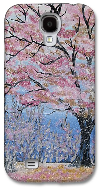 Cherry Blossoms Galaxy S4 Cases - Cherry Blossom Galaxy S4 Case by Cathy Jacobs