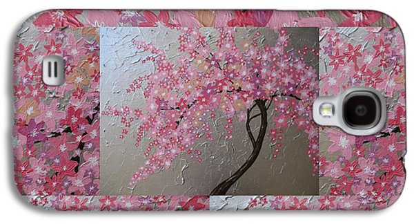 Cherry Blossoms Galaxy S4 Cases - Cherry Blossom collage Galaxy S4 Case by Cathy Jacobs