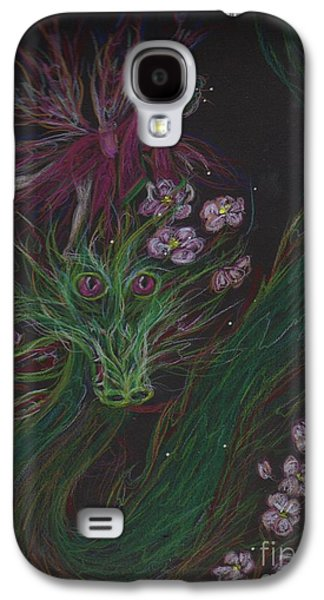 Cherry Blossoms Drawings Galaxy S4 Cases - Cherry Blossom Drunk Galaxy S4 Case by Dawn Fairies