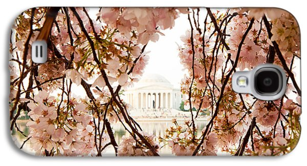 Cherry Blossoms Galaxy S4 Cases - Cherry Blossom Flowers in Washington DC Galaxy S4 Case by Susan  Schmitz