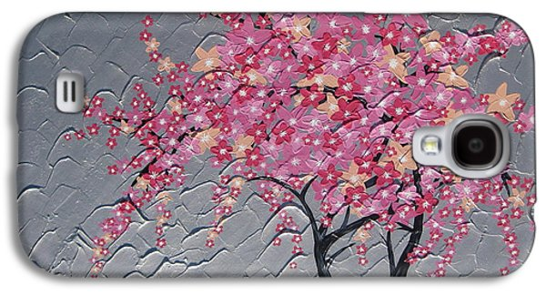 Cherry Blossoms Mixed Media Galaxy S4 Cases - Cherry blossom in pink Galaxy S4 Case by Cathy Jacobs