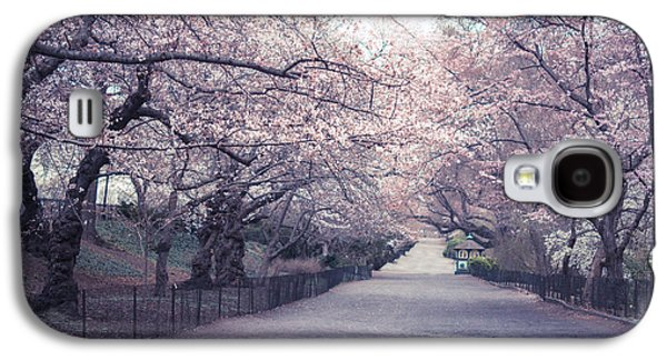 Cherry Blossoms Galaxy S4 Cases - Cherry Blossom Path - Central Park Springtime Galaxy S4 Case by Vivienne Gucwa