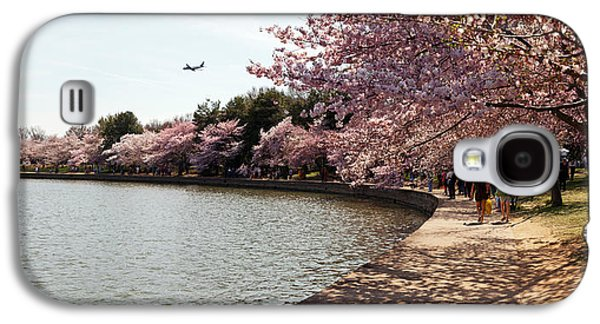 Cherry Blossoms Galaxy S4 Cases - Cherry Blossom Trees At Tidal Basin Galaxy S4 Case by Panoramic Images