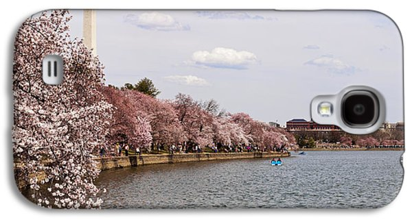 Cherry Blossom Trees In The Tidal Basin Galaxy S4 Case by Panoramic Images