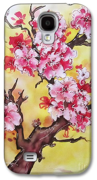Cherry Blossoms Tapestries - Textiles Galaxy S4 Cases - Cherry blossom Galaxy S4 Case by Violetta Kurbanova