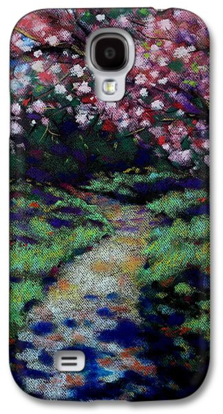 Impressionism Pastels Galaxy S4 Cases - Cherry Blossom Walk  Galaxy S4 Case by John  Nolan