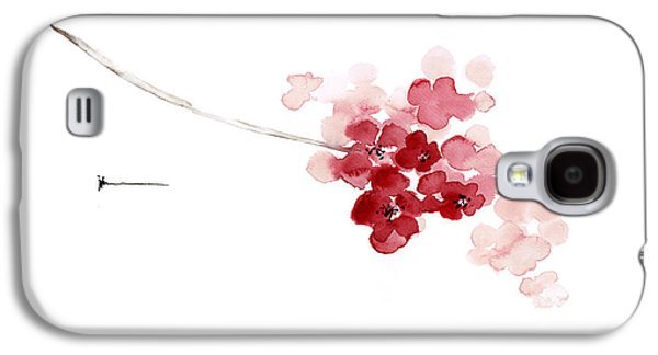 Cherry Blossom Watercolor Art Print Decor Japanese Sakura Home Decor Galaxy S4 Case by Joanna Szmerdt