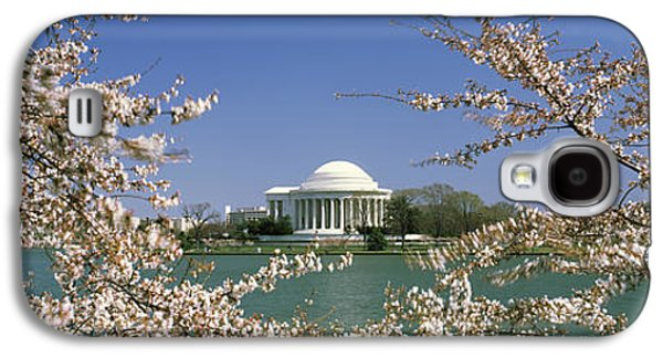 Cherry Blossoms Galaxy S4 Cases - Cherry Blossom With Memorial Galaxy S4 Case by Panoramic Images