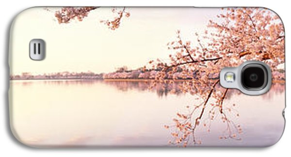 Cherry Blossoms Galaxy S4 Cases - Cherry Blossoms At The Lakeside Galaxy S4 Case by Panoramic Images