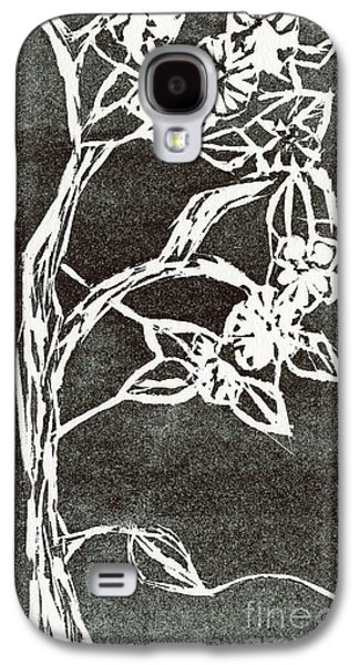 Cherry Blossoms Reliefs Galaxy S4 Cases - Cherry Blossoms Galaxy S4 Case by Barbara M Wilson