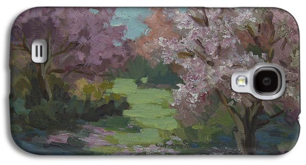 Cherry Blossoms Galaxy S4 Cases - Cherry Blossoms Galaxy S4 Case by Diane McClary