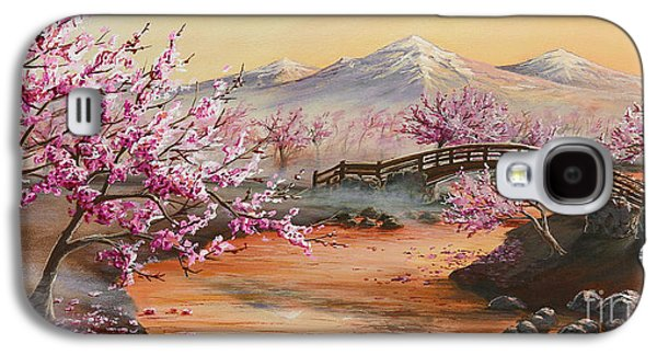 Cherry Blossoms Galaxy S4 Cases - Cherry Blossoms in the Mist Galaxy S4 Case by Joe Mandrick