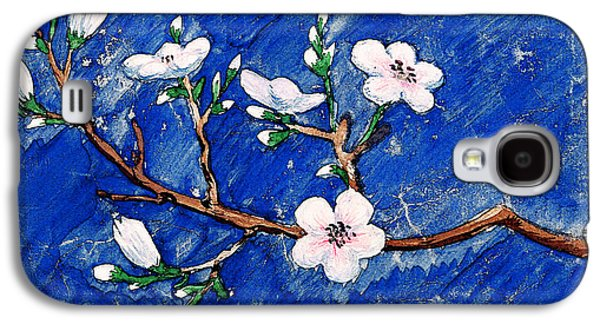 Cherry Blossoms Paintings Galaxy S4 Cases - Cherry Blossoms Galaxy S4 Case by Irina Sztukowski