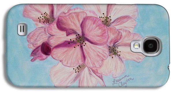 Cherry Blossoms Pastels Galaxy S4 Cases - Cherry Blossoms Galaxy S4 Case by Leeann Clayton
