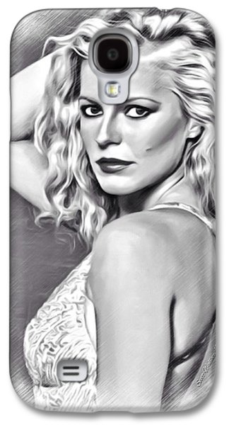 Munroe Digital Art Galaxy S4 Cases - Cheryl Ladd Sketch Galaxy S4 Case by Scott Wallace