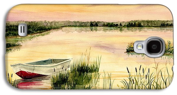 Boats In Water Paintings Galaxy S4 Cases - Chesapeake Marsh Galaxy S4 Case by Melly Terpening