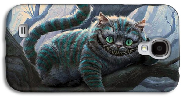 Alice In Wonderland Galaxy S4 Cases - Cheshire Cat Galaxy S4 Case by Movie Poster Prints