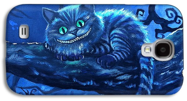 Alice In Wonderland Galaxy S4 Cases - Cheshire Cat Galaxy S4 Case by Tom Carlton