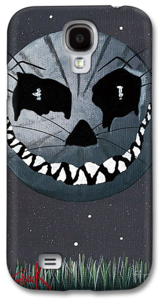 Man In The Moon Galaxy S4 Cases - Alice In Wonderland Artwork - Cheshire Moon Galaxy S4 Case by Shawna Erback