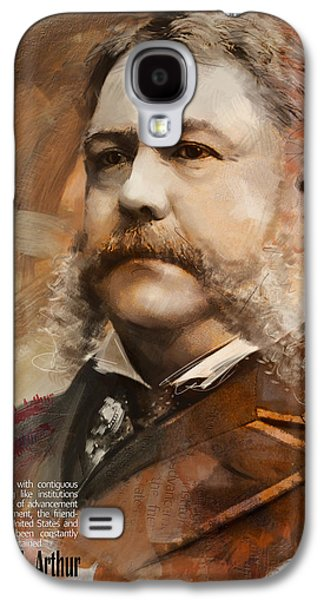 James Buchanan Galaxy S4 Cases - Chester A. Arthur Galaxy S4 Case by Corporate Art Task Force