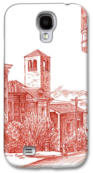 Street Drawings Galaxy S4 Cases - Chestnut Street In San Francisco  Galaxy S4 Case by Irina Sztukowski