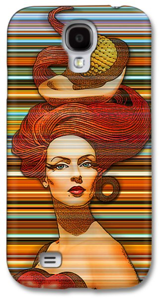 Abstract Digital Photographs Galaxy S4 Cases - Cheveux Rouges Extract Galaxy S4 Case by Chuck Staley