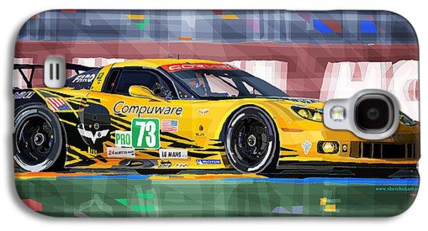 Automotive Galaxy S4 Cases - Chevrolet Corvette C6R GTE Pro Le Mans 24 2012 Galaxy S4 Case by Yuriy  Shevchuk
