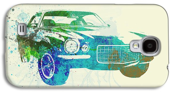 Automobiles Photographs Galaxy S4 Cases - Chevy Camaro Watercolor Galaxy S4 Case by Naxart Studio
