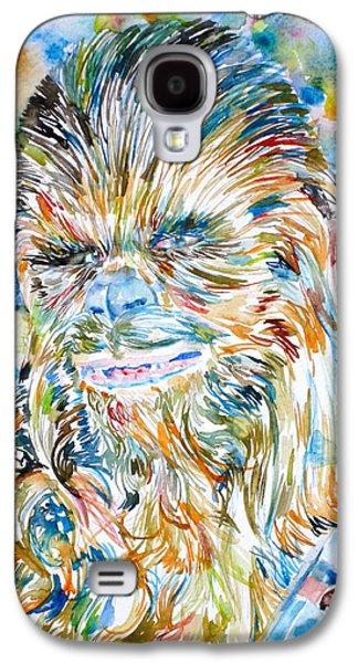 Star Alliance Galaxy S4 Cases - CHEWBACCA watercolor portrait Galaxy S4 Case by Fabrizio Cassetta