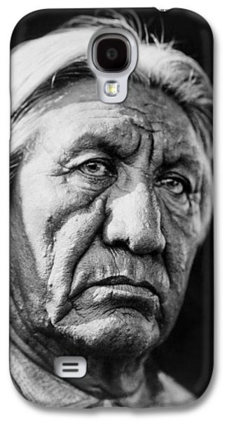 Gray Hair Galaxy S4 Cases - Cheyenne Indian Man circa 1927 Galaxy S4 Case by Aged Pixel