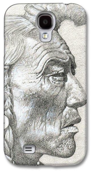 Native American Spirit Portrait Galaxy S4 Cases - Cheyenne Medicine Man Galaxy S4 Case by Bern Miller