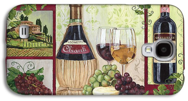 Grape Leaf Galaxy S4 Cases - Chianti and Friends 2 Galaxy S4 Case by Debbie DeWitt