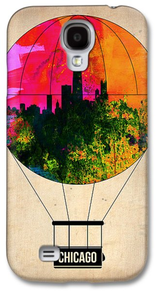 Midwest Galaxy S4 Cases - Chicago Air Balloon Galaxy S4 Case by Naxart Studio