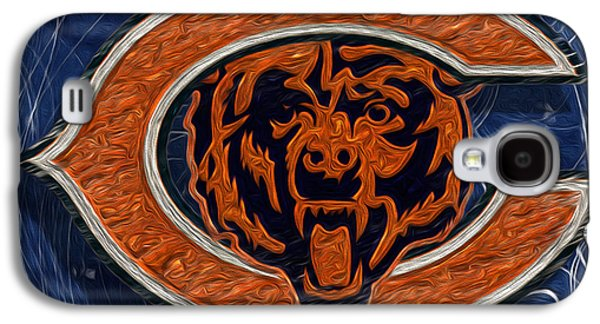 Pro Football Galaxy S4 Cases - Chicago Bears Galaxy S4 Case by Jack Zulli